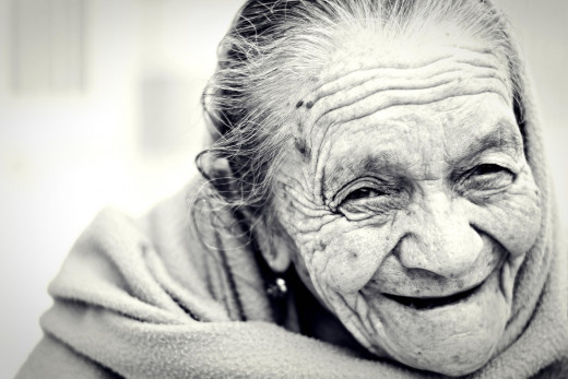 Old woman's face