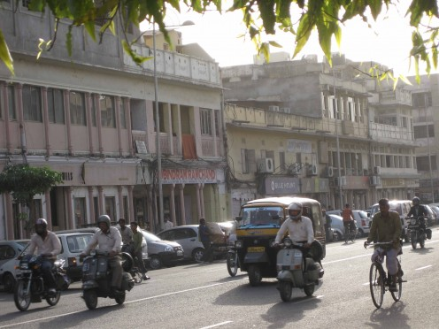 Evening View: M.I.Road Jaipur
