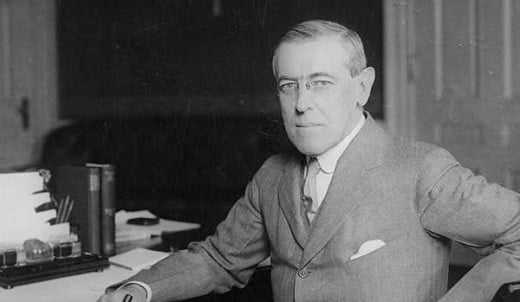 Woodrow Wilson, US president from 1913-1921, is responsible for broader US engagement with European affairs.