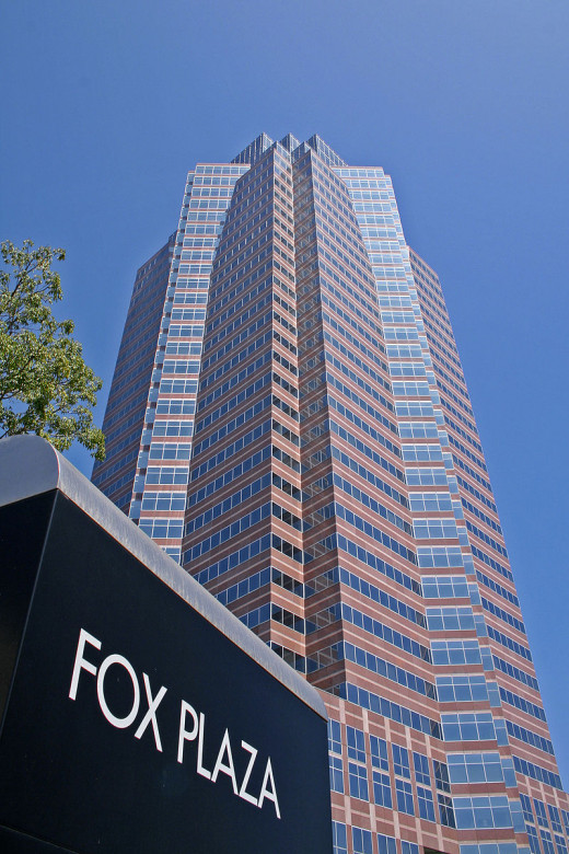Fox Plaza was used as Nakatomi Plaza the fictitious Plaza that was the setting for Die Hard.