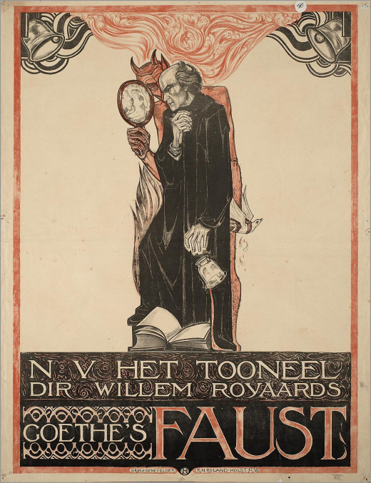 Faust and Mephistopheles in Goethe's Faust