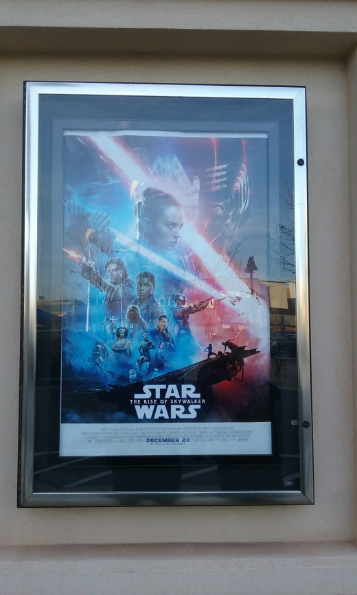 """""""The Rise of Skywalker"""" poster at the Bow Tie Cinema in Reston, Virginia, December 21, 2019."""