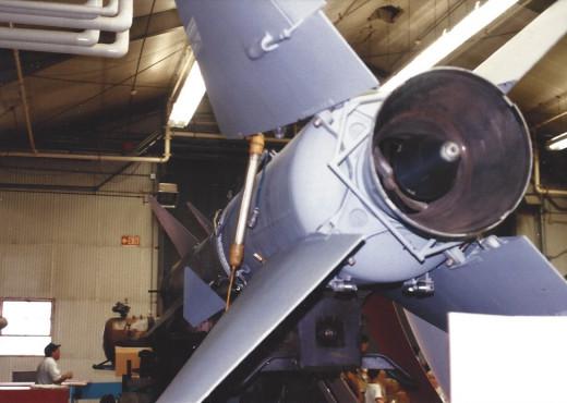 An S-75 (SA-2) at the Paul E. Garber facility, May 1989.