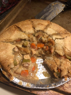 Chicken Pot Pie Made From Leftovers