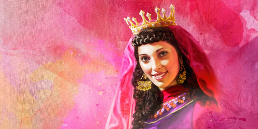 Esther, crowned Queen