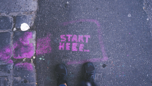 Start here. Photo by Gia Oris by Unsplash.