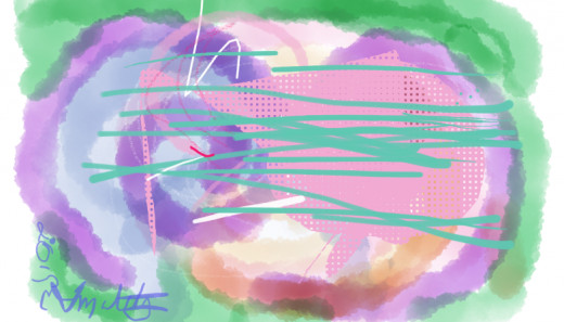 Abstract doodle done on my Kindle Fire.