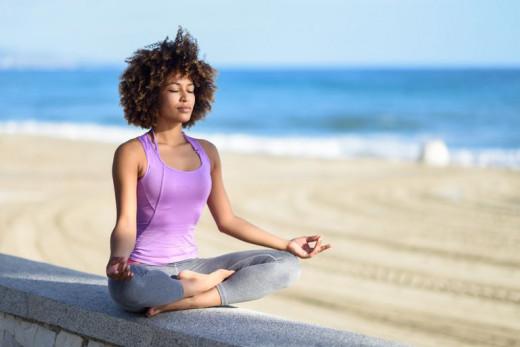 Meditation calms the mind