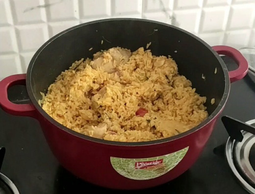 Cooked Chicken Biriyani