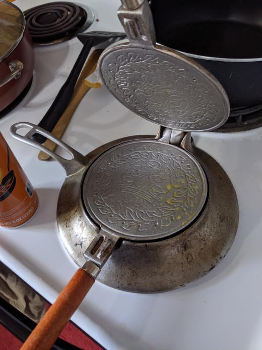 Heat the iron