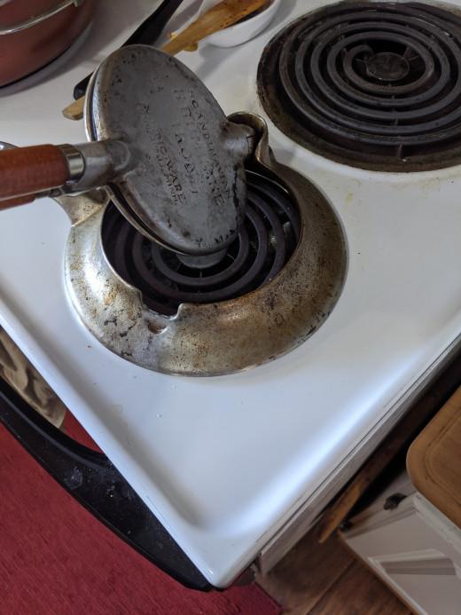 Flip iron over