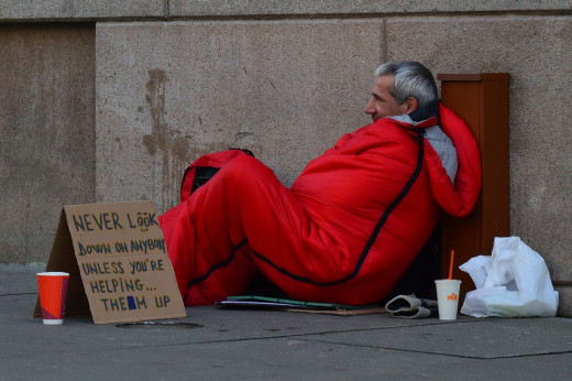 Homeless Man, Image by Quinn Kampschroer from Pixabay