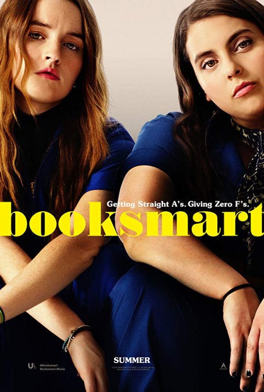 Booksmart movie poster 2019 is on Hulu in the USA & Netflix in France.
