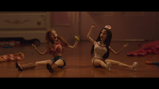 Molly and Amy imagine themselves as Barbie Dolls on an acid trip. Booksmart comedy movie 2019.