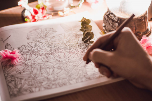 Drawing with mindfulness and awareness can help unresolved emotions to surface