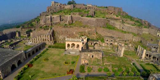 Aerial photo of Golconda Fort