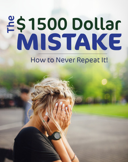 A painful lesson to learn, prevent yourself from losing your own money!