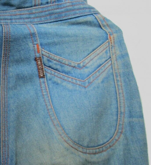A pair of vintage N'est-ce pas? jeans from the author's wardrobe.
