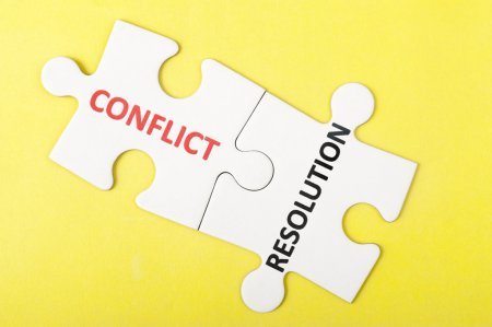 Think of conflict-resolution as a puzzle. You need to fit all of the pieces together in order to make it work.