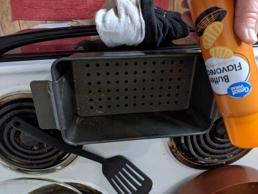 Use cooking spray on pan