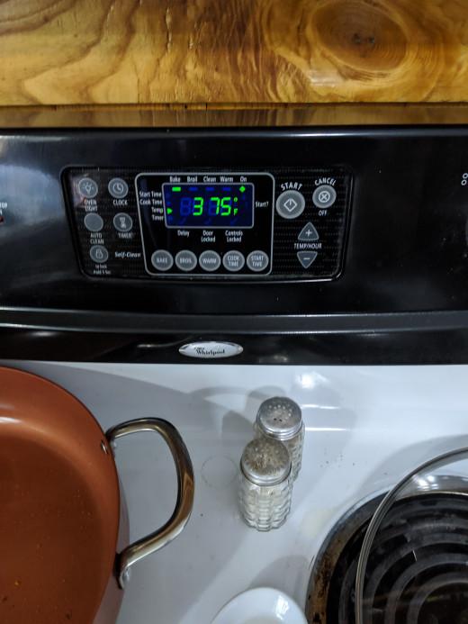 Oven 375 degrees