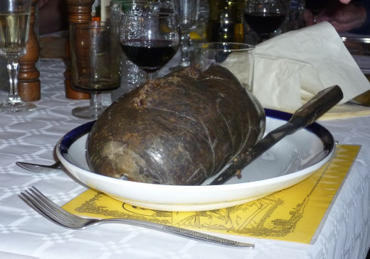 Haggis (eaten on Burn's Night) is a sheep's stomach filled with a mix of oatmeal, sheep's liver, and lungs.