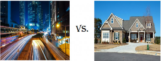 Living In the City vs. the Suburbs