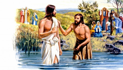 John Baptizing people in the river
