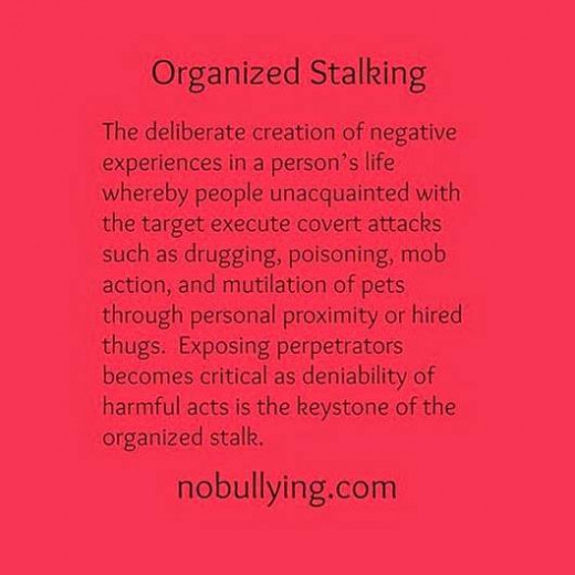 One definition of organized stalking.