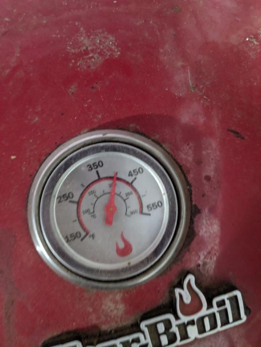 Temperature around 400 degrees