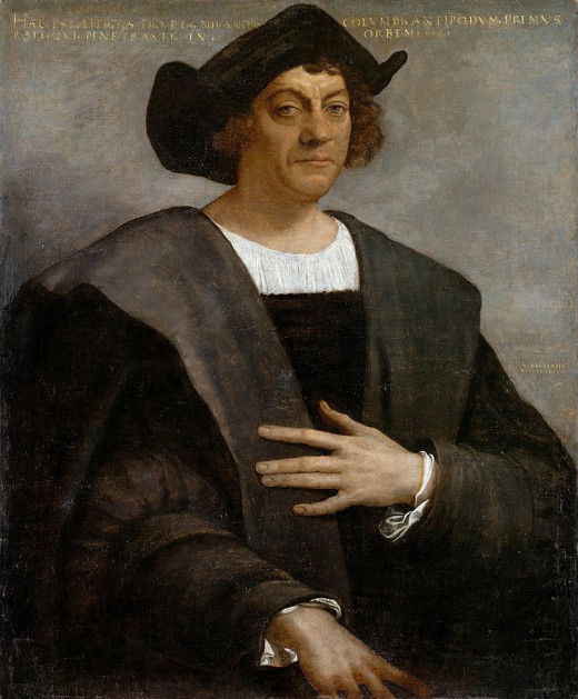 Portrait of Christopher Columbus by Sebastiano del Piombo in 1519. No known authentic portraits of Columbus exist.