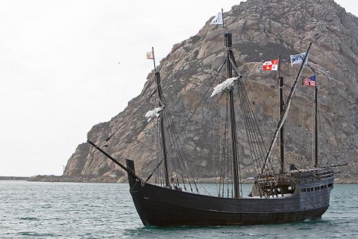Replica of Columbus's ship the Niña built in 1991.