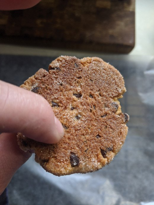Bottom of finished cookie