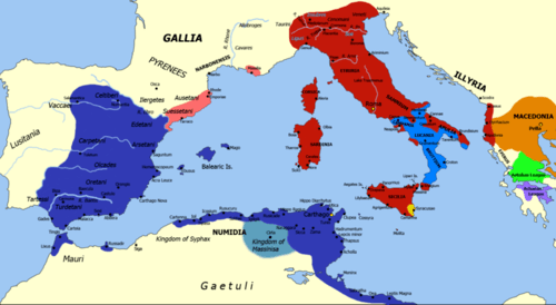Map during the second punic war