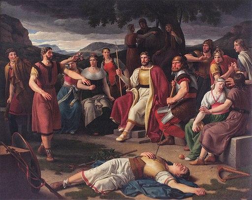 """""""Baldr's Death"""", Christoffer Wilhelm Eckersberg, 1817"""