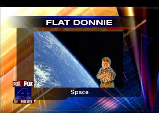 """The late Don Harman and one of his """"flat Don"""" photos. They were ridiculously obvious photoshopped or fake photos of him all over the place, that we all laughed about - not yet knowing. Perpetrators steal and photoshop your photos."""