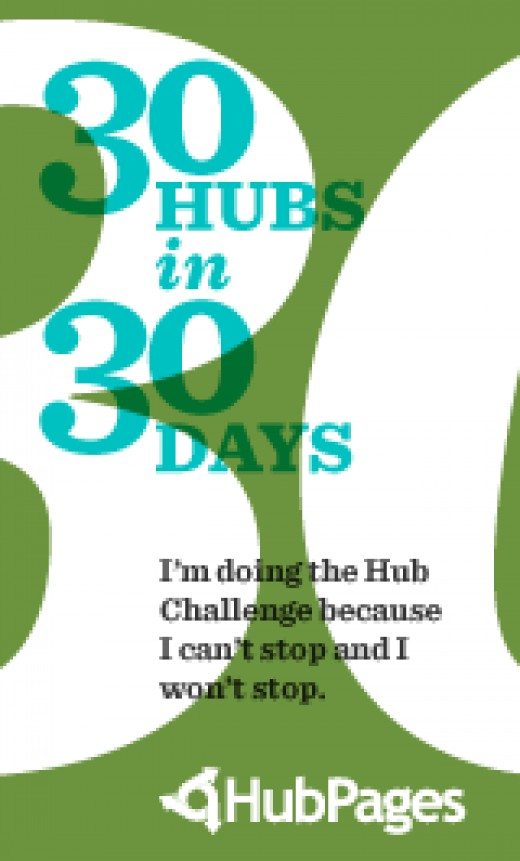 Sixth in my 30 hubs 30 days challenge, another one on writing! Yay!