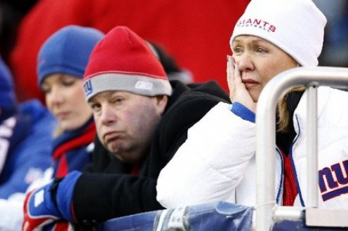 Fans feeling the Giants' downhill slide.