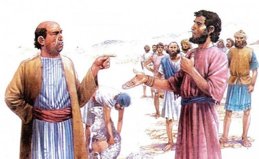 Nabal talking to David's servants