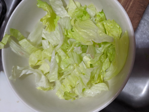 Sliced lettuce