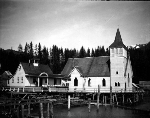 St. John's Episcopal Church and hospital, Ketchikan, Alaska, August 1904