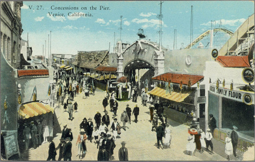 The heyday of Venice, California, prior to oil, annexation, and neglect.
