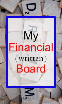 My (Written) Financial Vision Board