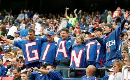 Fans show their support as the Giants go on a 6 game winning streak
