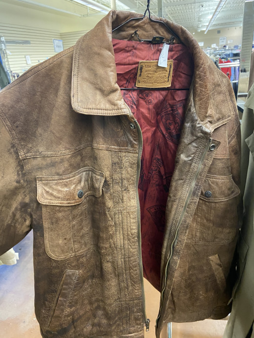 Levi's Jacket, leather, local hospital thrift store.