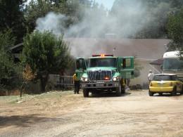 Volunteer firefighters got the job done.