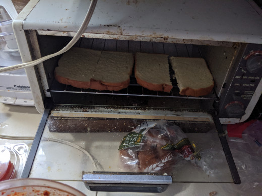 Toast bread, twice