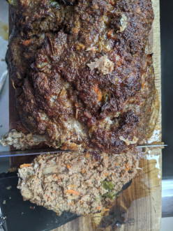 Meatloaf Infused With Kimchee