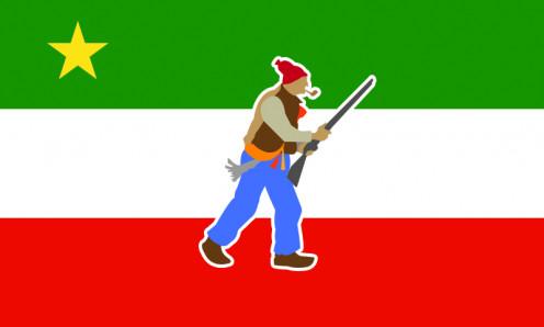 Republican flag of the Patriotes