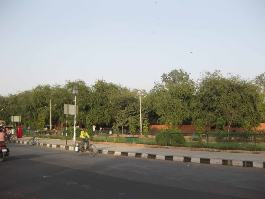 Side view: Ramniwas Bagh
